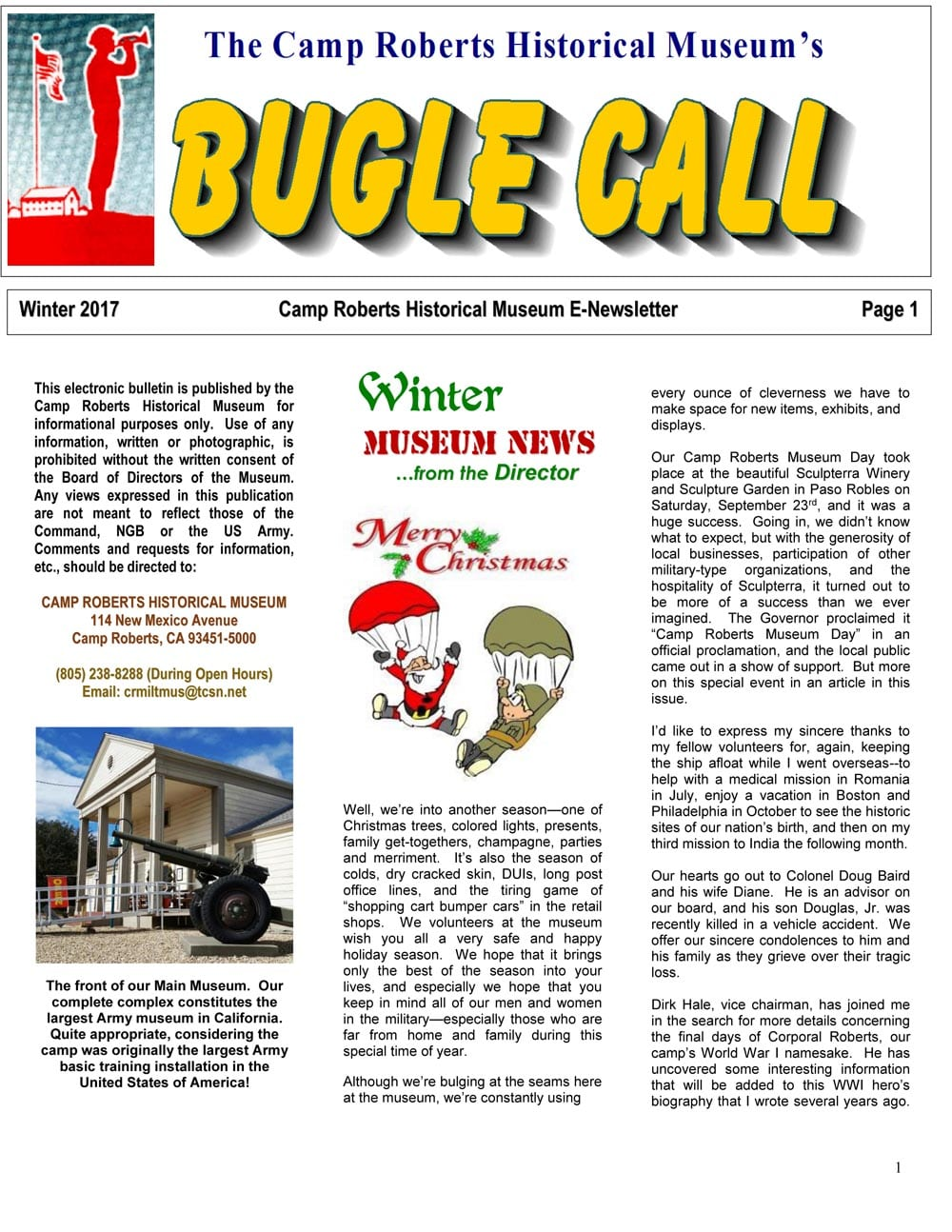 The Bugle Call - Camp Roberts Historical Museum
