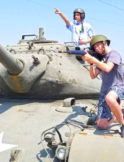 Camp Roberts Historical Museum Kids on Tank