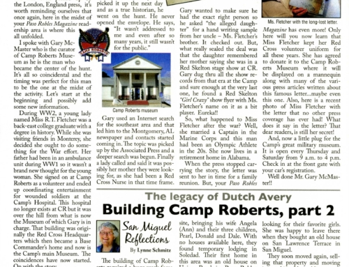 The Long Lost Letter at Camp Roberts – Paso Robles Magazine, MAY 2011