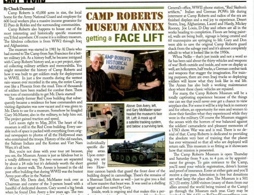 Camp Roberts Museum Annex getting a face lift – Paso Robles Magazine, MAY 2014