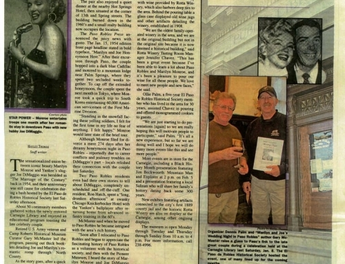 Memories of Marilyn – Paso Robles Press, 11 JAN 2011