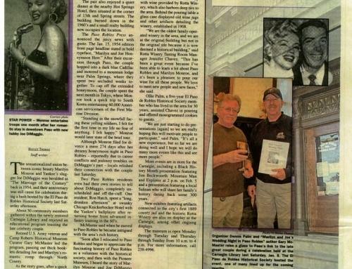 Memories of Marilyn – Paso Robles Press, 11 JAN 2011