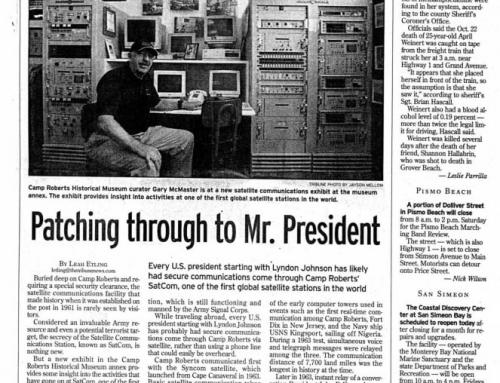 Patching Through to Mr. President – SLO Tribune, 10 NOV 2016